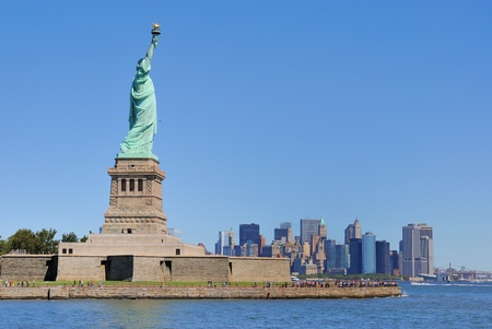 The Statue of Liberty on Liberty Island. photo