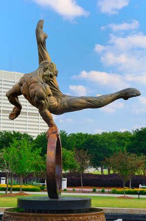 the flair: Atlanta, Georgia - May 11, 2011: The Flair by Richard McDonald commemorates the 1996 Centennial Olympic Games in Atlanta, Georgia.