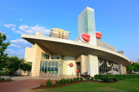 Atlanta, Georgia - May 11, 2011: The World of Coca-Cola is a museum dedicated to the history of Coke, a world famous softdrink brand.