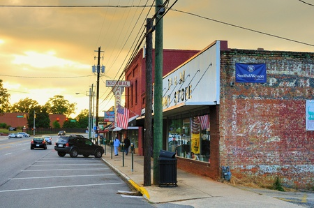 Athens, Georgia - May 14, 2011: Normaltown is an historic district in Athens, Georgia known for housing the venues that started the Careers of R.E.M., the B-52's among others. Stock Photo - 9561582
