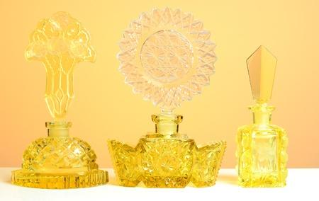 cut glass perfume bottles Banco de Imagens