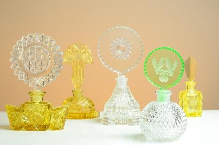 cut glass perfume bottles Stock fotó