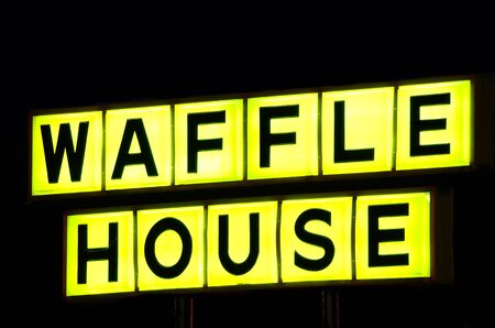 Athens, Georgia - June 1, 2011: Waffle House is a regional icon in the southern United States.