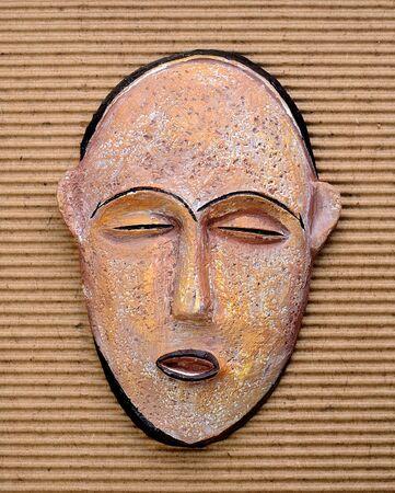 maschera tribale: Antique tribal mask Archivio Fotografico
