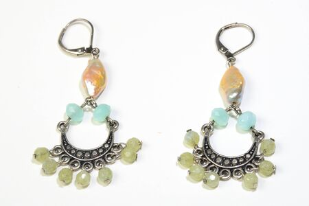 jewlery: Womens earings with gems and shell