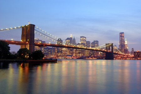 brooklyn: brooklyn bridge in new york city Stock Photo