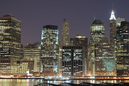 High rises along Lower Manhattan in New York City. Stock Photo - 9865566