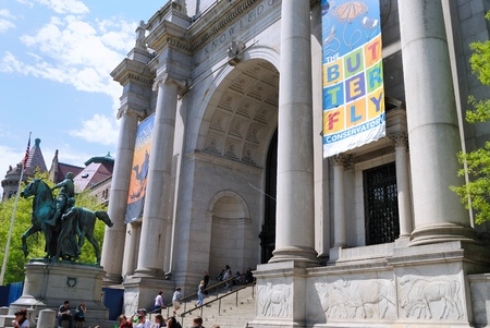 natural history museum: NEW YORK CITY - APRIL 15: The American Museum of Natural history is one of the most celebrated museums in the world April 15, 2010 in New York, NY.