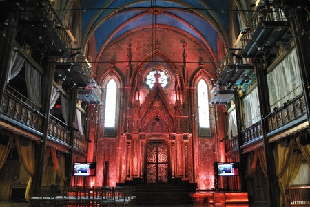 shul: NEW YORK CITY - APRIL 1: The Angel Orensanz Foundation is a converted historic synagogue that has been used for high profile celebrity events April 1, 2010 in New York, NY. Editorial