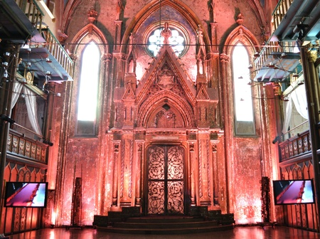 NEW YORK CITY - APRIL 1: The Angel Orensanz Foundation is a converted historic synagogue that has been used for high profile celebrity events April 1, 2010 in New York, NY. Editorial