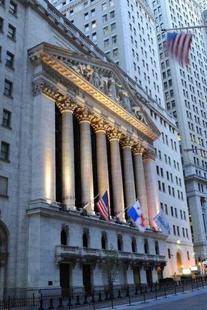 The landmark new york stock exchange in new york city. october 13, 2010.