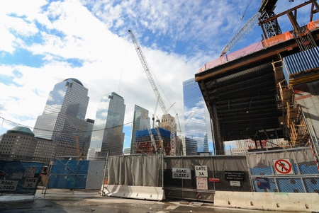 NEW YORK CITY - JUNE 17: The slow but continuous construction on the new World Trade Center site June 17, 2010 in New York, NY.