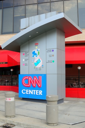 ATLANTA, GEORGIA - MAY 11: CNN headquarters news building May 10, 2011 in Atlanta, Georgia. Reklamní fotografie - 9789568