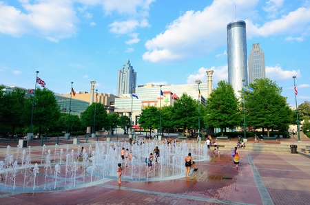 Centennial-Olympic Park in Downtown Atlanta, Georgia was originally built for the 1996 Olympic Games.