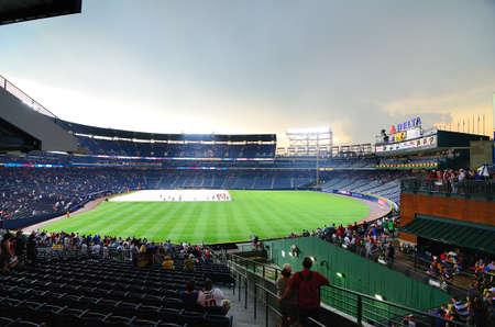 turner: Atlanta, Georgia - Jun 16, 2011: Rain delay at Turner Field in Atlanta, Georgia.