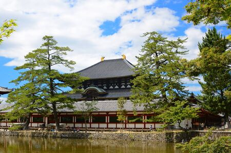 Exterior of Todaiji, the world's largest wooden building and a UNESCO World Heritage Site in Nara, Japan. Stock Photo - 10067229