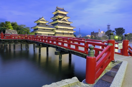 The historic Matsumoto Castle dating from the 15th Century in Matsumoto, Japan. Editorial