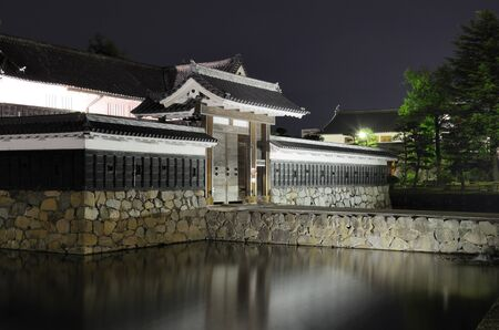entranceway: Entranceway to the historic Matsumoto Castle dating from the 15th Century in Matsumoto, Japan. Editorial