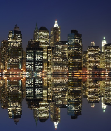 High rises along Lower Manhattan in New York City. Stock Photo - 10065098