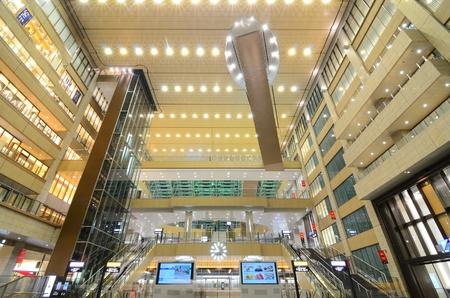 osaka: Osaka, Japan - July 21, 2011: The newly rennovated Osaka Station is the the biggest transit hub in Western Japan. Editorial