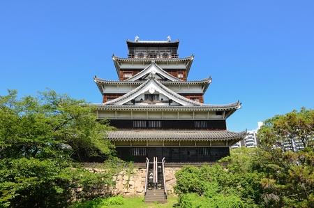 hiroshima: Exterior of Hiroshima Castle in Hiroshima, Japan originally dating from the 1590
