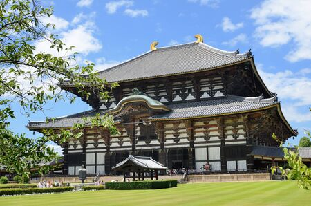todaiji: Exterior of Todaiji, the worlds largest wooden building and a UNESCO World Heritage Site in Nara, Japan. Editorial