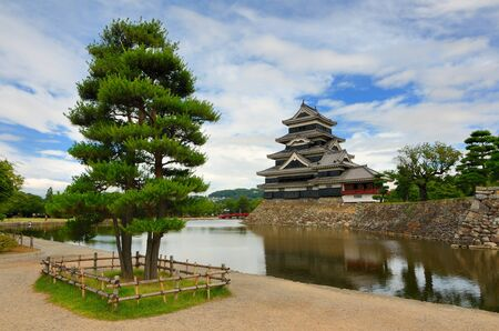 The historic Matsumoto Castle dating from the 15th Century in Matsumoto, Japan. Stock Photo - 10067491