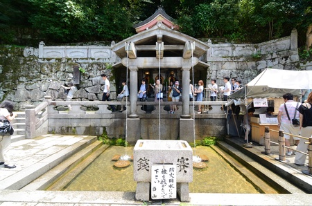 dera: KYOTO, JAPAN - JULY 10: Kiyomizu-Dera is a landmark Buddhist temple in Kyoto, Japan.