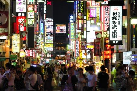 Tokyo, Japan - July 5, 2011: Scene at Kabuki-cho in Shinjuku district of Tokyo, Japan.