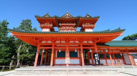 京都平安神宮。 写真素材