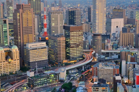 Osaka, Japan - July 13, 2011: With a Metropolitan area of nearly 18 million people, Osaka is Japan's second largest city July 13, 2011 in Osaka, Japan.