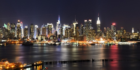 weehawken: New York City skyline viewed from Weehawken.