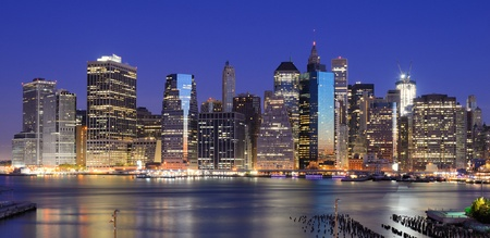 Lower Manhattan viewed from Brooklyn Heights in New York City. Stock Photo - 10444567