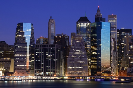 Lower Manhattan viewed from Brooklyn Heights in New York City. Stock Photo - 10444558