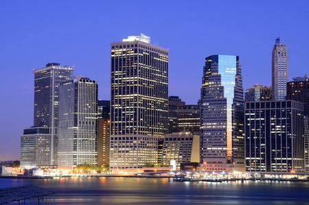 Lower Manhattan viewed from Brooklyn Heights in New York City. Stock Photo - 10444565