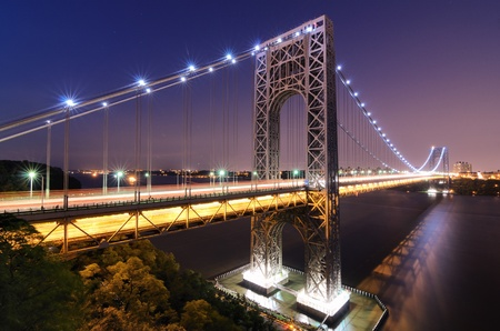 The George Washington Bridge spanning the Hudson River at twilight in New York City. Stock Photo - 10444561