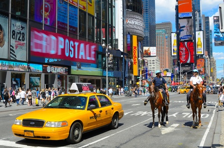 NEW YORK CITY - August 24: NYPD patrol Times Square, dubbed