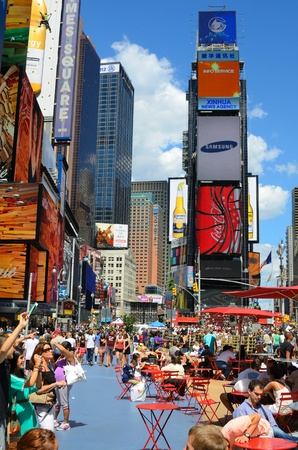 NEW YORK CITY - August 24: Dubbed Crossroads of the world, Times Square is the cultural and economic center of Manhattan August 24, 2011 in New York, NY.