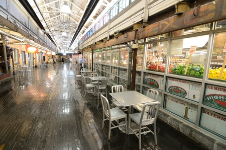 NEW YORK CITY - AUGUST 25: Chelsea Market is an upscale gourmet market built in a historic renovated warehouse August 25, 2011 in New York, NY. Stock Photo - 10435026