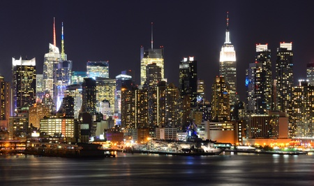 weehawken: New York City skyline viewed from Weehawken, New Jersey.