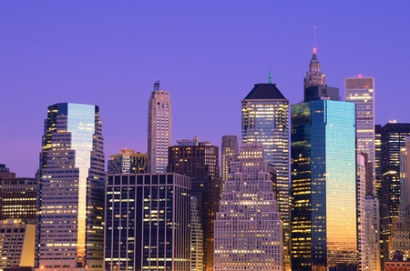 Lower Manhattan viewed from Brooklyn Heights in New York City. Stock Photo - 10483845
