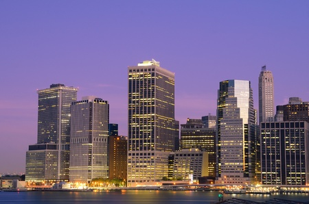 Lower Manhattan viewed from Brooklyn Heights in New York City. Stock Photo - 10483859