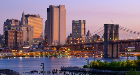 Lower Manhattan viewed from Brooklyn Heights in New York City. Stock Photo - 10483841