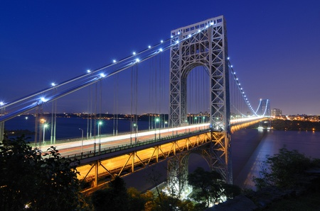 The George Washington Bridge spanning the Hudson River at twilight in New York City. Stock Photo - 10483846