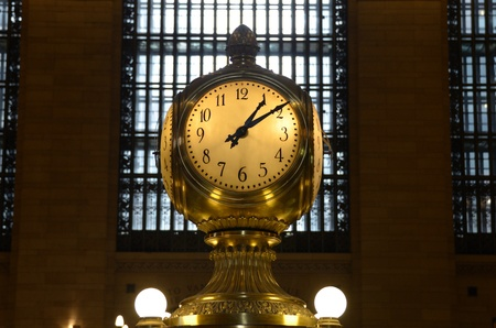 Clock in the interior of Grand Central Terminal in New York City. photo