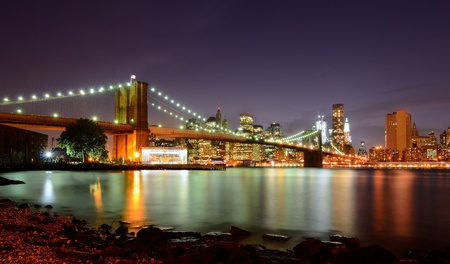 View of Downtown New York City and Brooklyn Bridge Stock Photo - 10483834