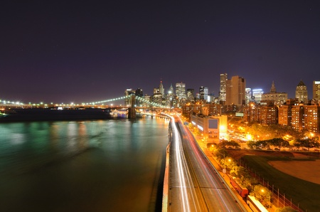 View of Downtown New York City and Brooklyn Bridge Stock Photo - 10483861