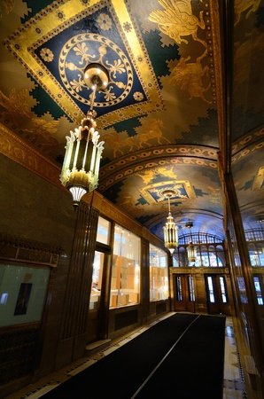 NEW YORK CITY - AUGUST 29: Interior of the art deco French Building on August 29, 2011 in New York, NY. The building dates from 1927 and is on the National Register of Historic Places. Stock Photo - 10499880