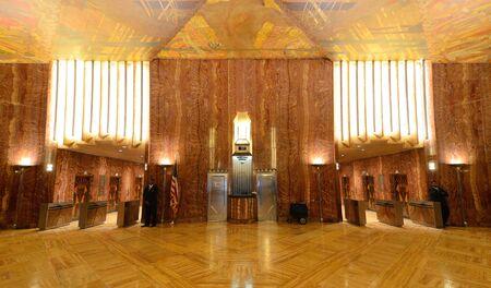 chrysler: NEW YORK CITY - AUGUST 26: Interior lobby of the Chrysler Building August 26, 2011 in New York, NY. The lobby is designated a national Art Deco interior landmark. Editorial
