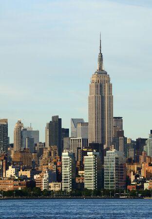 Midtown Manhattan skyline with landmark buildings in New York City.